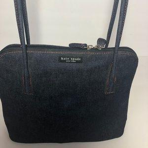 Kate Spade Denim Jean Hand Bag Purse Tote New!